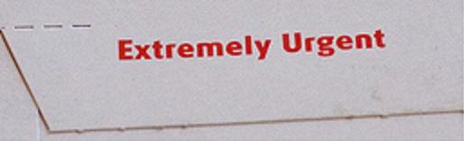 Extremely Urgent